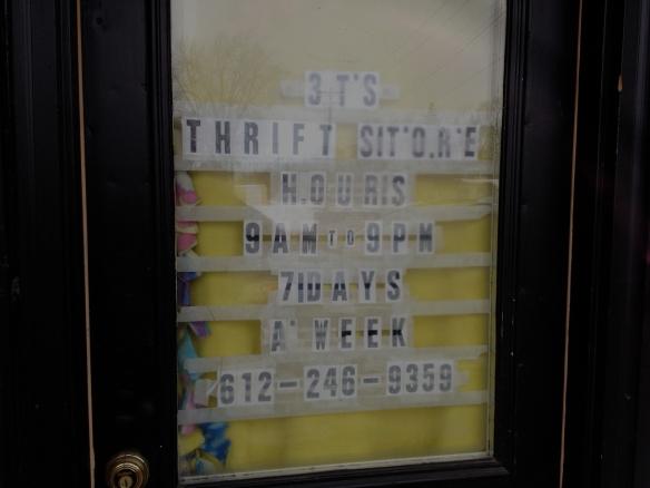 thrift store door