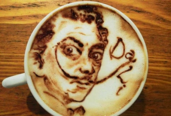 Latte art Dali