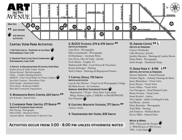 art on the avenue map